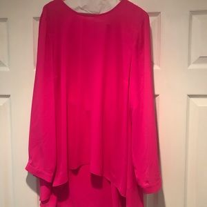 Vince Camuto really bright pink tunic